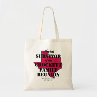 Official Survivor of Texas Family Reunion (red) Tote Bag