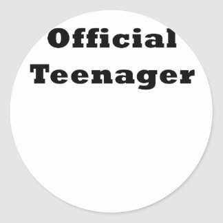 Official Teenager Round Sticker