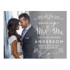 Official Titles Wedding Announcements - Grey Postcard