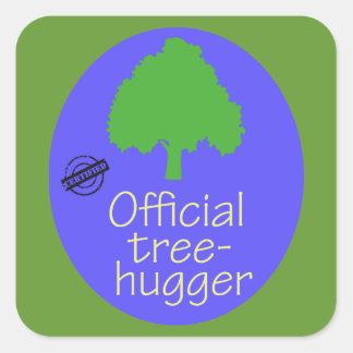 Official Tree-Hugger Square Sticker