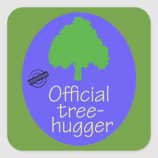 Official Tree-Hugger Square Sticker