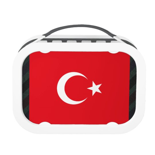 Official Turkey Flag on stripes Lunch Box