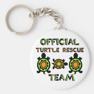 Official Turtle Rescue Team 1 Basic Round Button Keychain