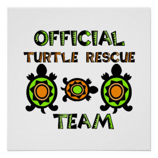 Official Turtle Rescue Team 1 Poster