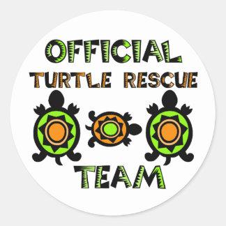 Official Turtle Rescue Team 1 Round Sticker