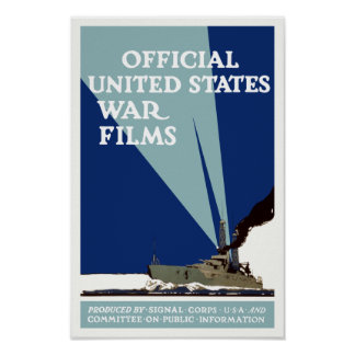 Official United States War Films -- WWI Poster
