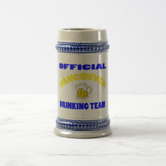 OFFICIAL VANCOUVER DRINKING TEAM BEER STEIN