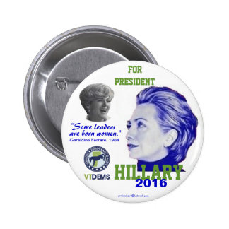 Official Vermont Hillary 2016 2 Inch Round Button