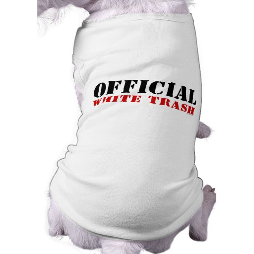 Official White Trash Pet Clothing