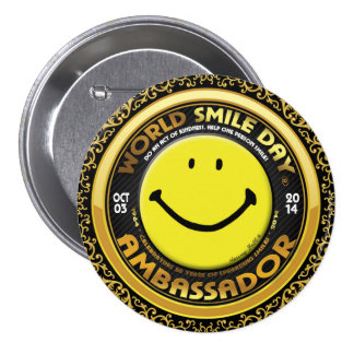 Official World Smile Day® 2014 Ambassador Button