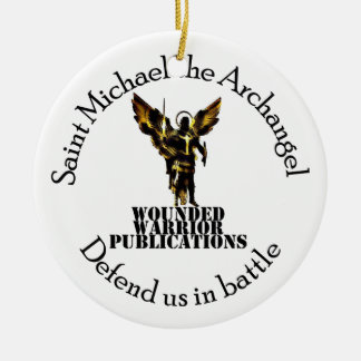 Official Wounded Warrior Publications Logo Round Ceramic Ornament