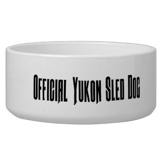 Official Yukon sled dog bowl