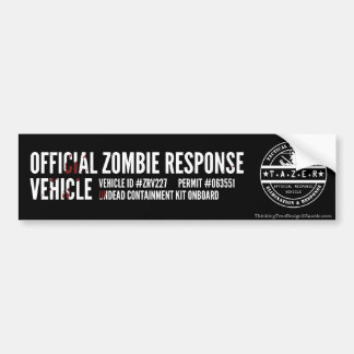 Official Zombie Response Vehicle Bumper Sticker