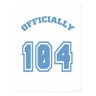 Officially 104 postcard