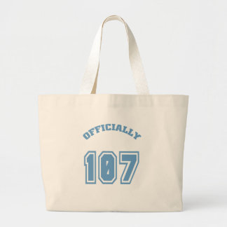 Officially 107 tote bags