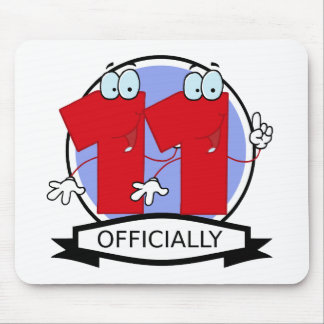 Officially 11 Birthday Banner Mouse Pad
