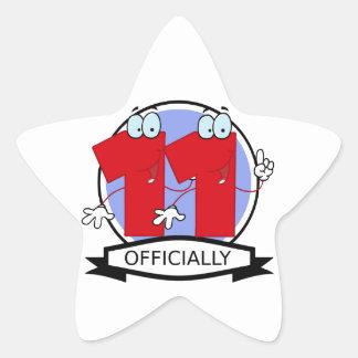 Officially 11 Birthday Banner Star Sticker