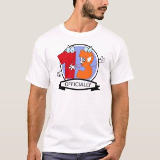 Officially 13 Birthday Banner T-Shirt