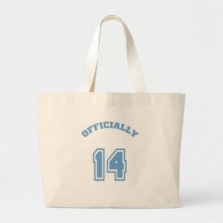 Officially 14 canvas bag