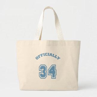 Officially 34 canvas bag