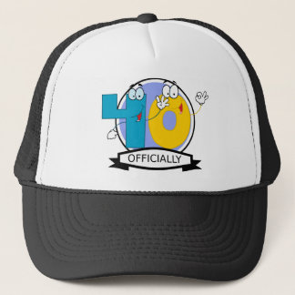 Officially 40 Birthday Banner Trucker Hat