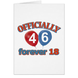 Officially 46 forever 18 cards