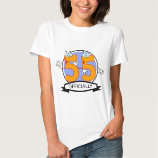 Officially 55 Birthday Banner Shirt