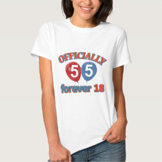 Officially 55 forever 18 tshirt