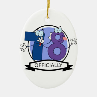 Officially 78 Birthday Banner Ceramic Ornament