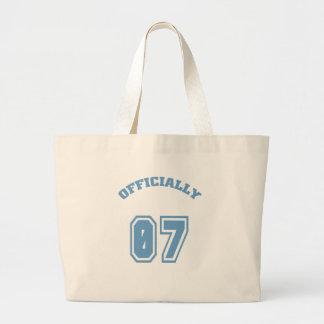 Officially 7 canvas bag