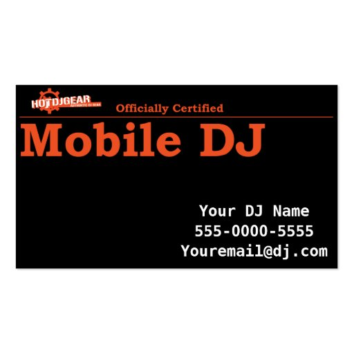 Officially Certified Mobile DJ Business Card Business Card Template