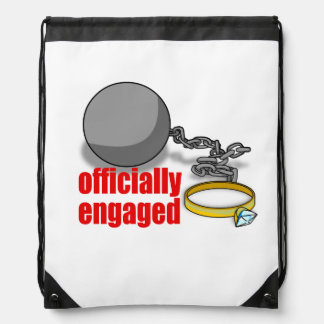Officially Engaged Drawstring Backpack