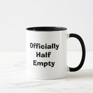 Officially Half Empty Mug