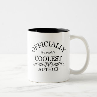 Officially the world's coolest Author Two-Tone Coffee Mug