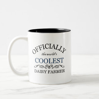 Officially the world's coolest Dairy Farmer Two-Tone Coffee Mug