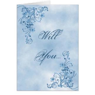 Officiant Greeting Card: Sky Blue Elegance Card