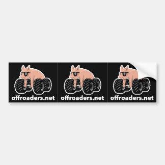 Offroader Hedmark - 3 Web black Bumper Sticker