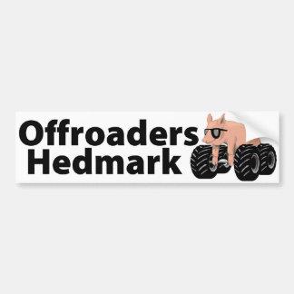 Offroaders Hedmark - Bumper sticker white