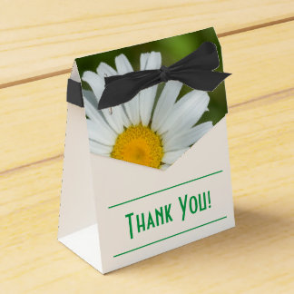 Offset Daisy Thank You Tent Favor Box
