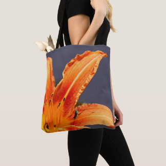 Offset Day Lily with Critter Tote Bag