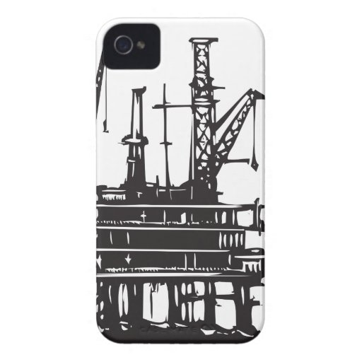 Offshore Oil Rig iPhone 4 Case-Mate Cases