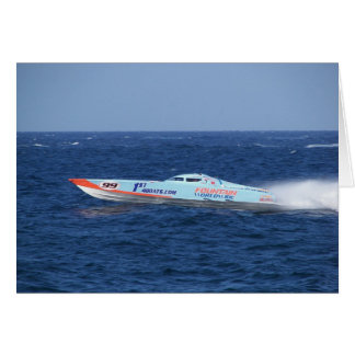 Offshore Powerboat Racer Greeting Card