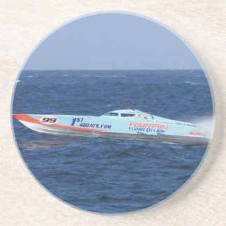 Offshore Powerboat Racer Beverage Coasters