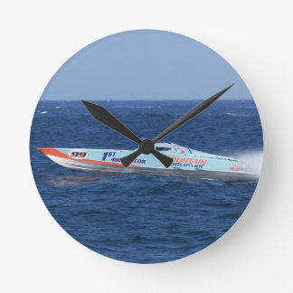 Offshore Powerboat Racer Wall Clocks