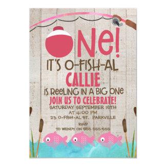 Ofishal One Girls Birthday Invitation