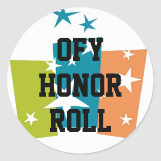 OFY Honor Roll small Round Sticker