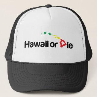 OG Hawaii Or Die Logo - Rasta Colors Trucker Hat