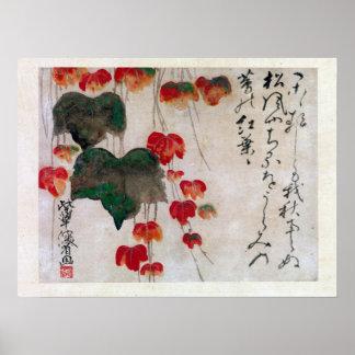 Ogata Kenzan Autumn Ivy Poster
