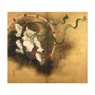 Ogata Kōrin Thunder God Canvas Print