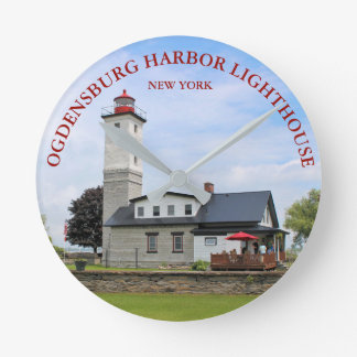 Ogdensburg Harbor Lighthouse, New York Clock